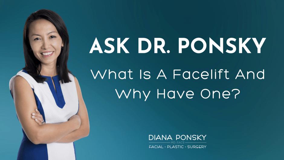 Dr. Diana Ponsky Facelift Blog